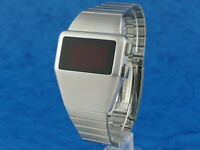 70s 1970s Old Vintage Style LED LCD DIGITAL Rare Retro Mens Watch 12 & 24 hour L