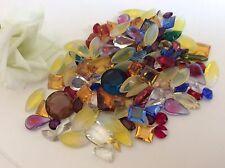 30 Mixed size/shape Unfoiled Rhinestones Bargain Bag Craft Post Free