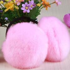 Faux Fur Big Earmuffs Winter Warmer Thicken Plush Fluffy Ear Muffs Solid Earlap
