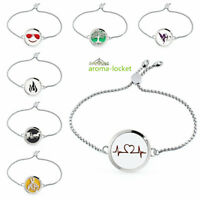 Locket bracelet perfume Essential Oil Aromatherapy Diffuser bangle adjustable