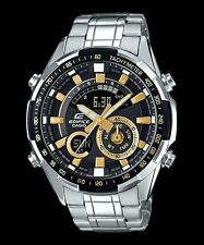 ERA-600D-1A9 Black Casio Edifice Men's Watches Analog Steel Band New