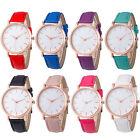 Fashion Men Women's Leather Watch Stainless Steel Analog Quartz Wrist Watches