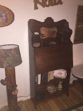 victorian secretary oak desk Original Antique