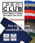 PRO CLUB PROCLUB Heavy Weight Short Sleeve Plain Tall or Reg T-shirt Tee S-5XLT