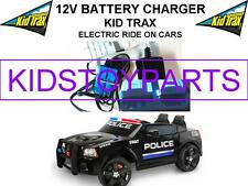 12 Volt Battery Charger KID TRAX DODGE CHARGER SWAT POLICE CAR w/ Blue Connector
