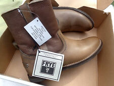 New Womens Frye Celia Shearling Short Boots Charcoal 76668 MSRP $ 298 Size 7 M