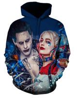 Suicide Squad Joker 3D Print Hoodie Men Sweater Sweatshirt Jacket Pullover Tops