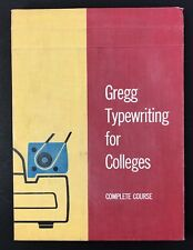 Gregg Typewriting for Colleges Complete Course Vintage 1957 Typing 1950s MCM 50s