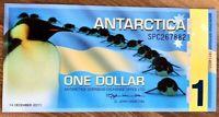 2011 ANTARCTICA ONE DOLLAR BANKNOTE 100th Ann. - UNC!