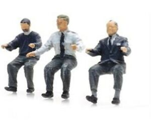 Artitec 5870001 Bus Drivers seated x3, HO/OO 1:87 Scale ready made/painted - 1st