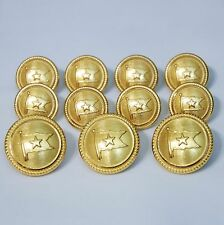 Waterbury Titanic White Star Flag Gold Blazer Buttons Sport Coat Button Set 13p