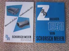 2 X NEW REPRINT SCHORSCH MEIER PARTS CATALOGS BMW R51 R50 R60 R67 R68 R69 R69S