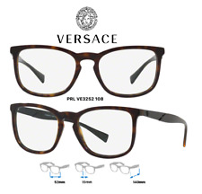 Versace VE3252 108 Eyeglass Frames Dark Havana 100% New/Authentic 52mm