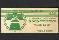 FOOD STAMP COUPON USDA FULL BOOK 1977 B $7.00 FULL BOOK (2) $1.00 EARLY BOOK