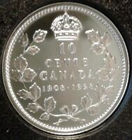 1908-1998 CANADA UNC PROOF SILVER TEN CENTS Coin - RCM 90th Anniversary