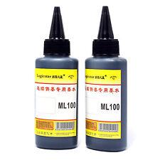 2 piezas universal 100ml Negro Cartucho Recarga Tinta para todas las impresora,