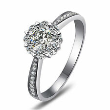 STERLING SILVER CZ Cluster Engagement Promise Dress Ring Size 6 7 8 9 / L N P R