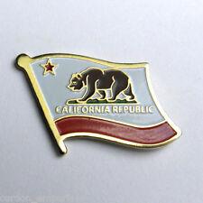 US CALIFORNIA STATE FLAG USA SINGLE LAPEL PIN BADGE 1 INCH