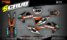 SCRUB KTM graphics decals EXC 125 250 300 350 450 500 2017 -2018 Enduro '17 -'18