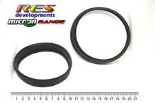 114MM DIAMETER MICRON MOTORCYCLE EXHAUST CANISTER / MUFFLER, RUBBER GASKET SEALS