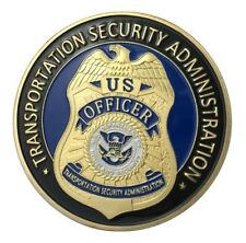 U.S. United States Transportation Security Administration TSA Gold Plated Coin