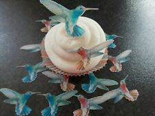 16 PRECUT Edible wafer/rice paper Humming Birds (2 )cake/cupcake toppers