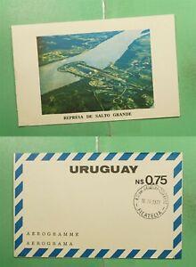 DR WHO 1977 URUGUAY PICTORIAL AEROGRAMME SALTO GRANDE  f94699
