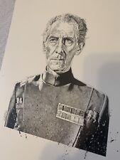 Peter Cushing Pen And Ink Drawing Art Chris Hacks Star Wars