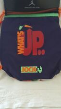 Nike Jordan What's Up Jock ? Hare Drawstring Sling Backpack Ink 9A1699-50
