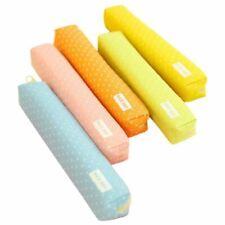 1 Pc Small Canvas Zipper Pencil Case Dot Fashion Stationery