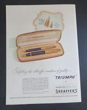 Original Print Ad 1946 SHEAFFER'S Pen Set Triumph Pens Fineline Set