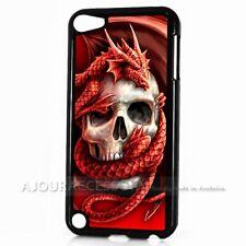 ( For iPod Touch 6 ) Back Case Cover AJ11115 Skull Snake