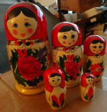 Traditional Russian Nesting Doll 5 Pcs Large 7.2*