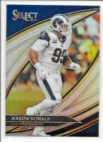 2019 Panini Select AARON DONALD Field Level SILVER PRIZM Rams No. 240