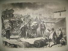 ERUPTION VESUVE TORRE DEL GRECO CHATEAU WINDSOR INDE GANGE NOËL GRAVURES 1861
