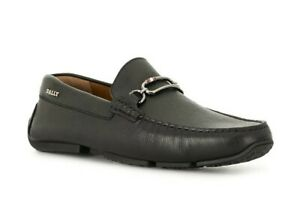 Genuine Bally Men's Leather Shoes, Loafers, Brand New in Box, Black, Pansys