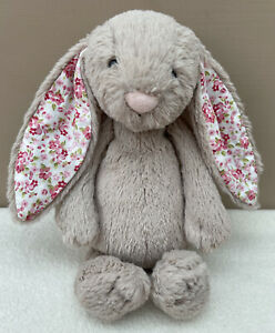 Jellycat Small Blossom Beige Bunny Rabbit Baby Soft Toy Comforter Retired Design