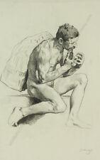 """Male Nude"" by Gottlieb Theodor Kempf von Hartenkampf (1871-1964)"