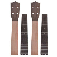 Ukulele Neck and Fretboard for Concert 23 Inch Ukelele Uke Parts Okoume 2 Sets