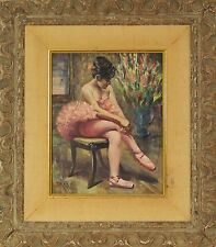 William Alexander Drake (Canadian,1891-1979) Oil Painting Ballerina Signed