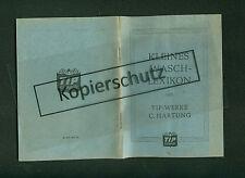Valan TIP-Werke Hartung Saarbrücken Kleines Wasch-Lexikon Bleich-Tip 1952 Hexim