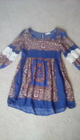 Altar'd State boho hippie dress with lace accents size large