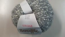 Sirdar Bouffle #720 Plume Light Grey Soft & Light Chunky Yarn 50g