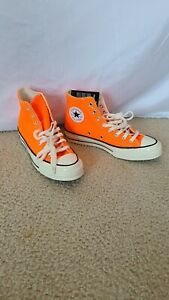 NEW Converse Chuck Taylor All Star Hi Shoes Sneakers Orange Mens Size 7 Wo's 9