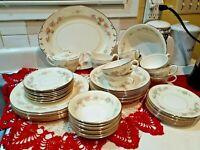 51 pc Vtg Homer Laughlin B49N5-K49N5 Georgian Eggshell Dinnerware