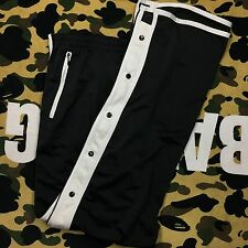 Adidas Men's Black Athletic Snap Off Tear Away Track Pants Size Large