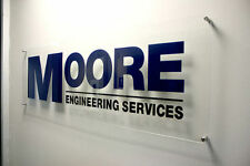 Modern Glass Acrylic Plaque Commercial Office Sign Business logo plaque 1/0.3M