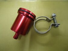 BILLET Aluminium RED  Brake Clutch Reservoir Pot - Streetfighter Cafe Racer