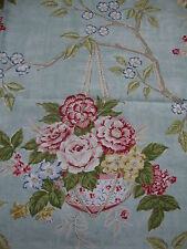 104cm SANDERSON Willoughby vintage linen union upholstery fabric remnant