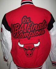 CHICAGO BULLS 6 Time NBA FINALS CHAMPIONSHIP Jacket Sewn Logos 4X